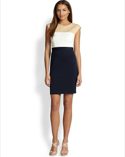 ABS  - Colorblock Sheath Dress