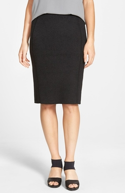 Eileen Fisher - Stretch Wool Blend Pencil Skirt