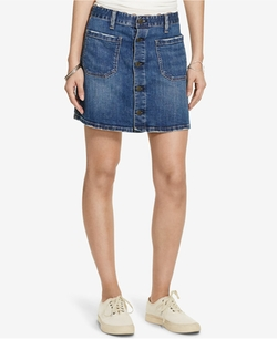 Denim & Supply Ralph Lauren - Tilden Button-Front Skirt