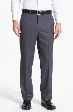 JB Britches  - Flat Front Worsted Wool Trousers