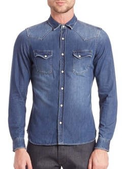 The Kooples  - Denim Casual Button Down Shirt