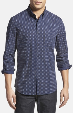 Nordstrom  - Trim Fit Print Sport Shirt