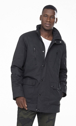 Express - Black Hooded Parka Jacket