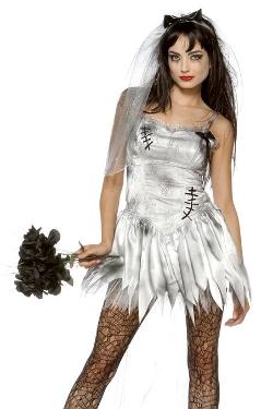 Lip Service  - Sexy Zombie Bride Costume