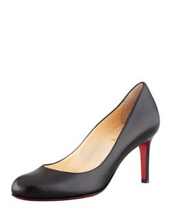 Christian Louboutin  - Simple Leather Red Sole Pump