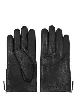 Mario Portolano  - Side Zip Deer Leather Gloves