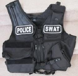 Fidragon - Paintball / Airsoft Black SWAT / POLICE Tactical Vest Field Gear