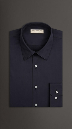Burberry - Slim Fit Stretch Cotton Blend Shirt