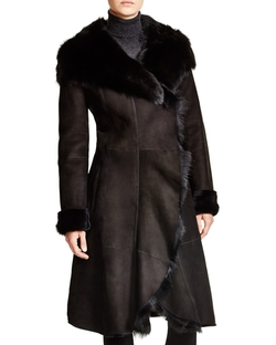 Maximilian - Hooded Shearling Coat With Toscana Collar