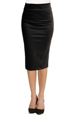 Simlu - Below the Knee Pencil Skirt
