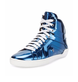 Bally - Eticon Metallic Leather High-Top Sneakers