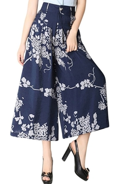 Clorys - Floral Printed Wide Leg Culottes