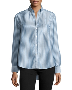 Frank & Eileen - Button-Front Striped Shirt