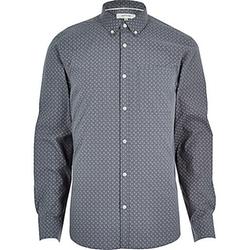 River Island - Micro Print Long Sleeve Shirt