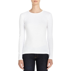Jones New York - Long Sleeve Crew Neck Cotton Tee Shirt