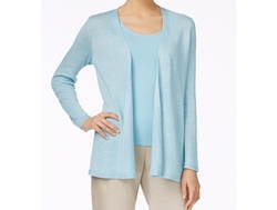 Eileen Fisher  - Long-Sleeve Open-Front Linen Cardigan