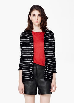 Mango - Striped Jacquard Jacket