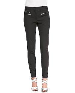 Veronica Beard  - Zip-Detail Twill Trousers