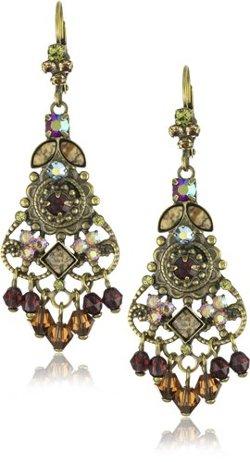 Sorrelli  - Tapestry Crystal Chandelier Gold-Tone Earrings