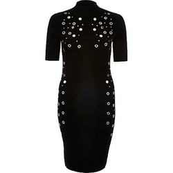 River Island - Bodycon Eyelet Dress