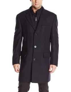 Calvin Klein - Modesto Wool-Blend Herringbone Overcoat