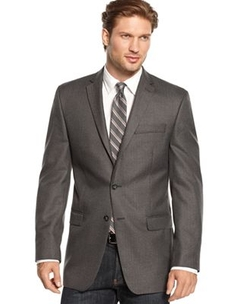 Calvin Klein - Slim-Fit Herringbone Sport Coat