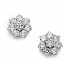 Adriana Orsini - Sterling Silver Flower Stud Earrings