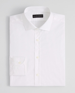 Ralph Lauren Black Label - Solid Poplin Barrel Dress Shirt