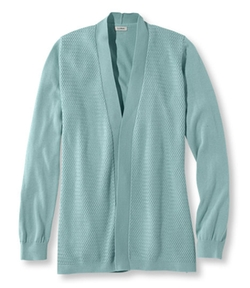 L.L. Bean - Premium Supima Cotton Textured Open Cardigan