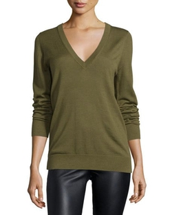 Michael Kors Collection  - Long-Sleeve Reverse-Cowl Sweater