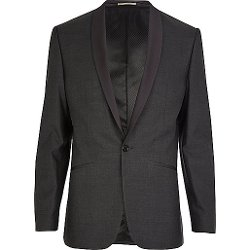 River Island - Contrast Lapel Slim Suit Jacket