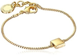 French Connection  - Gold-Tone Square Pendant Bracelet