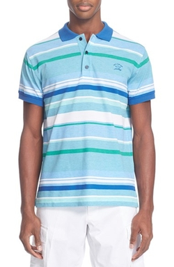 Paul & Shark - Stripe Piqué Polo Shirt