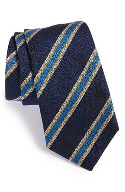 Psycho Bunny  - Stripe Silk & Wool Tie