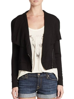 Haute Hippie  - Zip-Front Cotton Knit Jacket