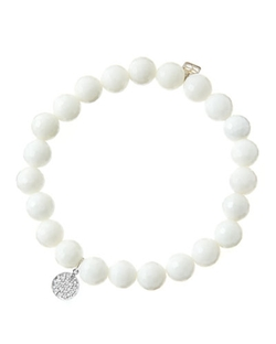 Sydney Evan - White Agate Beaded Bracelet