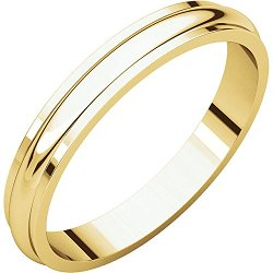 Goldia - Round Edge Wedding Band Ring