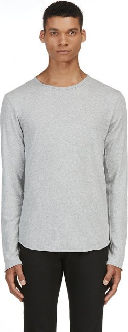 Rag & Bone  - Grey Raw Edge T-Shirt
