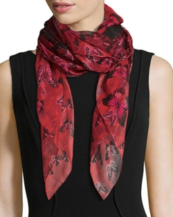Alexander McQueen - Butterfly Flight Square Scarf