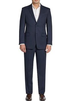 Tommy Hilfiger  - Slim-Fit Fine Striped Wool Suit