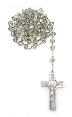 Zinga  - Silver Rosary Necklace