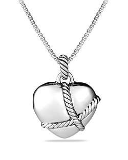 David Yurman  - Cable Heart Pendant Necklace