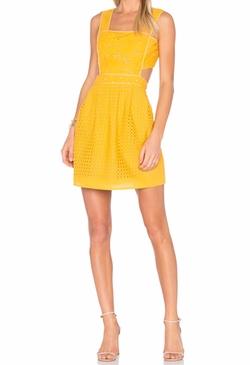 Aijek  - Ann Broderie Pinafore Dress