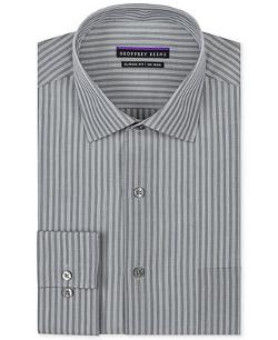 Geoffrey Beene  - Non-Iron Grey Stripe Dress Shirt