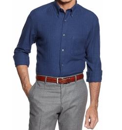 John Ashford - Long-Sleeve Herringbone Flannel Shirt