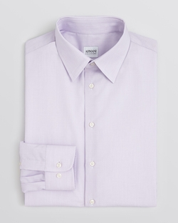 Armani Collezioni - End-On-End Solid Dress Shirt