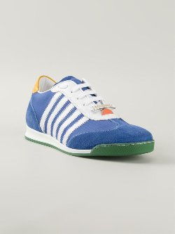 DSquared2  - Appliqué Stripe Sneakers
