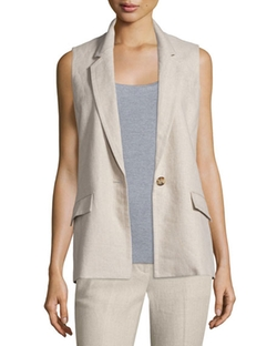 Michael Michael Kors  - One Button Linen Vest