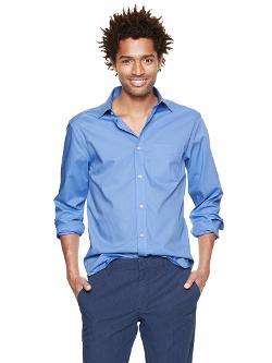 GAP - Non-Iron solid poplin shirt