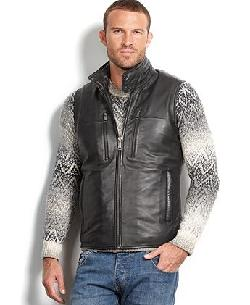 Marc New York  - Vest, Liberty Leather Quilted Vest